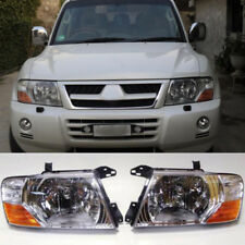 2000-2006 For Mitsubishi Pajero Montero L and R Set Headlights head lamps lights