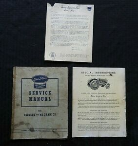 """1943 FORD TRACTOR """"FERGUSON SYSTEM"""" SERVICE MANUAL FOR OWNER'S & MECHANICS RARE"""