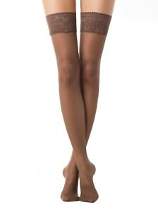 CONTE Stockings CLASS 40 Den | Thick Lace Silicone Top Stay Ups