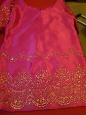 Vintage Cerise tunic Dress Uk L Wedding/Glam