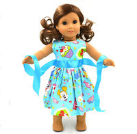"2015 For American Girl Hot Handmade  Princess  Blue dress 18""Doll Clothes"