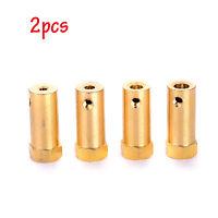 2pcs Brass Extended Shaft Hex Coupling Coupler Car Motor Connector 3/4/5/6/8mm