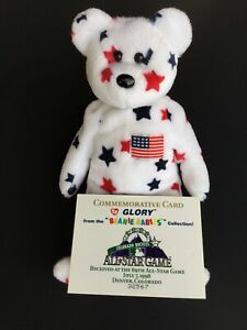 """TY Beanie Baby """"GLORY"""" Rare and in VG Condition – 1998 MLB All Star Game"""