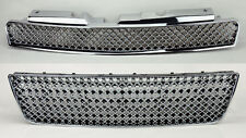 Chevy Impala 06-09 Front Hood & Bumper Upper Lower Chrome Mesh Front Grill