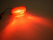 2 x 4 Red 6 LED Oval Oblong Marker Clearance Light Trailer RV Camper
