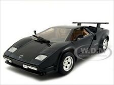 LAMBORGHINI COUNTACH BLACK 1:24 DIECAST MODEL CAR BY MOTORMAX 73219