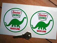 "Sinclair Dino Gasolina Auto De Carreras pegatinas de 3,5 ""Pr Usa Nascar Indy gas combustible Carrera"