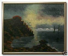 HARTVIG JARLHOV *1919 / COASTLINE - Original Swedish Oil Painting