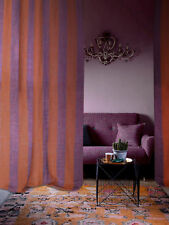 Rideau Marines brun et violet 100% lin (col.44)