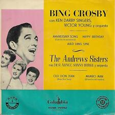 BING CROSBY / THE ANDREW SISTERS EP Spain 195? Anniversary song +3