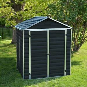 PALRAM SKYLIGHT GARDEN PLASTIC SHED MIDNIGHT GREY 6FT X 5FT FREE UK DELIVERY PK
