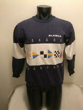 Vintage 1987 Alaska Nautical Flags 50/50 Blend Crewneck Sweatshirt Mens Medium