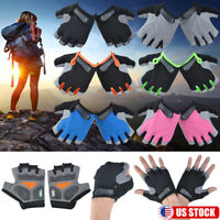 Sports Cycling Motorcycle Padded MTB Glove Silicon Gel Half Finger Gloves S-XL