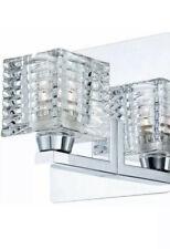 3 X Hampton Bay Olivet 1-Light Chrome Sconce with Cube Crystal Glass Shade