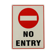 2x Warning Notice No Entry Sign 225x300mm Metal Waterproof Traffic Best SELLER