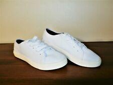 Womens Shoes Nautica White Fabric Tennis 8 1/2M Nwob