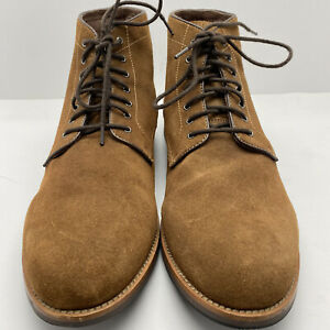 Warfield & Grand Mens Ryder Brown Suede Leather Plain Toe Chukka Boots US 11.5 M
