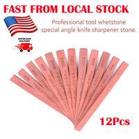 12Pc Knife Sharpening Stone Oilstone Whetstone for Kitchen Outdoor/Survival