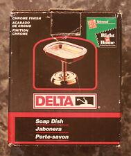 """DELTA - Chrome Standing Soap Dish - 3 1/2"""" Tall  x 4 1/2"""" Wide x 3 1/4"""" Deep NIB"""