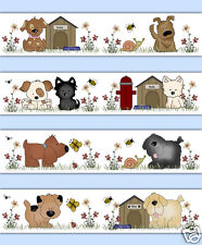 Puppy Dog Wallpaper Border Wall Art Decal Puppies Animal Kids Sticker Room Decor
