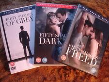 FIFTY SHADES: GREY / DARKER / FREED.5 DISCS. EROTIC.  2015 -18.  DVD