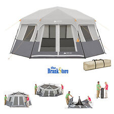 Instant Cabin Tent Ez Pop Up Hexagon Tents 8 Person Outdoor C&ing Shelter  sc 1 st  eBay & 8 Person Pop Up Camping Tents | eBay