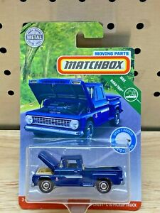 Matchbox '63 Chevy C10 Pickup, 2019 MBX Moving Parts Road Trip, Blue Variation