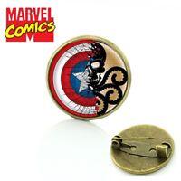 Agents of SHIELD CAPTAIN AMERICA HYDRA logo Metal Pin cosplay marvel comics USA