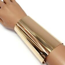 "4.80"" gold smooth wide bracelet bangle cuff basketball wives"