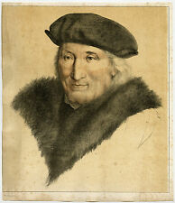 Rare Antique Print-PORTRAIT JOHN MORE-EARLY LITHOGRAPHY-Holbein-Franquinet-1829