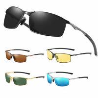 Men Aluminium HD Polarized Photochromic Sunglasses Driving Outdoor Sun Glasses