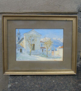Mimi Bille (1868). Sorrento, Southern Italy. Dated 1911. Fine watercolor