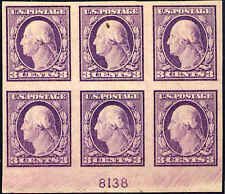 1917 US Stamp #483 A140 3c Mint Hinged Plate Block of 6 Catalogue Value $125