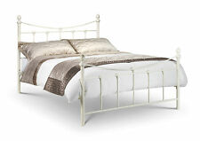 Rebecca Metal Bed Frame In Cream Ivory 4ft 6 Double 135cm  Free Delivery