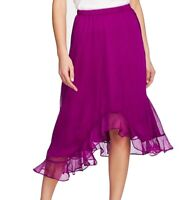 Vince Camuto Womens Maxi Skirt Purple Size Medium M Asymmetrical Ruffle $99- 416