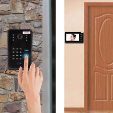 """7"""" Tactile RFID LCD Vidéo Porte Sonnette Interphone Visiophone Sécurité Système"""
