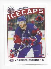 2015-16 St. John's IceCaps Update (AHL) Gabriel Dumont (Syracuse Crunch)