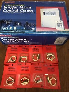 Radio Shack NOS 49-451 2-Zone Burglar Alarm System w/Keypad w/9 Contact Switches