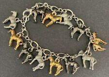Horse Charm Bracelet (12 Charms) Silver, Copper, Slate - FREE SHIP