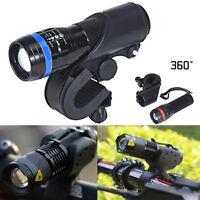 Cree Q5 LED Flashlight Bright Cycling Bike Bicycle Head Front Light+360 Mount