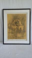 """LEBADANG Lithographie signé ,epreuve d'artiste """" Deux Chevaux Jaunes"""""""