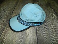 KAVU Nylon Synthetic Strap Cap Small Blue Made in USA EUC