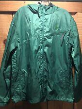 Men's 686 Light Spring Snowboard Jacket Coat Green w/ Hood Sz Large