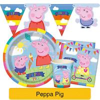 PEPPA PIG Birthday Party Range - Tableware Balloons Supplies Decorations (1C)