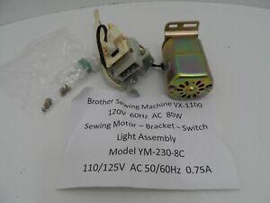 Brother Sewing Machine Model VX-1100 Sewing Machine Motor/Bracket/Switch Etc.