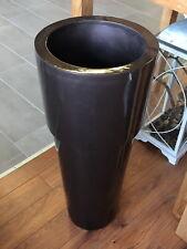 Diamond Garden Bodenvase NADIA braun H:92 x Ø37cm GFK / vierfach lackiert DEKO