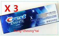 3 x Crest Dentifrice Fort Blanc Diamant Luxe Blanc Diamant Brillant menthe 3.5oz