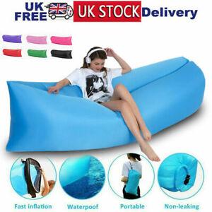 Outdoor Inflatable Sofa Air Bed Lounger Sofa Lazy Sack Hangout Camping Beach Bag