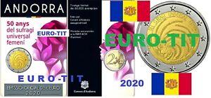 ANDORRE  N° 2   / 1  X  PIECE    DE  2  EURO      ANDORRE   2020      DISPONIBLE