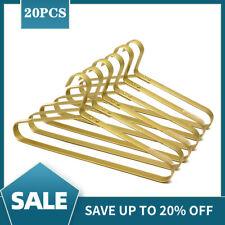Adult 43cm Gold Luxury Metal Coat Suit Clothes Top Hangers Display Storage 20PCS